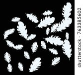 feather pattern  bright...   Shutterstock .eps vector #763385602