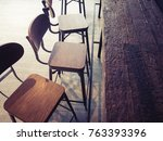 cafe counter and chairs... | Shutterstock . vector #763393396