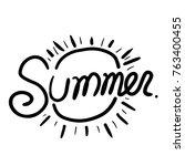 summer lettering design | Shutterstock .eps vector #763400455