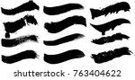 grunge paint stripe . vector... | Shutterstock .eps vector #763404622