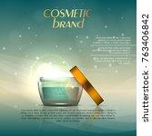 vector 3d cosmetic illustration ... | Shutterstock .eps vector #763406842
