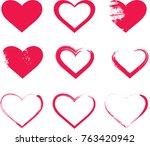 heart shape  heart design... | Shutterstock .eps vector #763420942