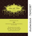 save the date | Shutterstock .eps vector #76342387
