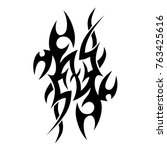 tattoo tribal designs. sketched ... | Shutterstock .eps vector #763425616