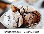 Ice cream sundae with chocolate ...