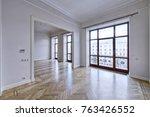 empty interior in modern house  | Shutterstock . vector #763426552