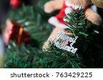 christmas tree decoration...   Shutterstock . vector #763429225
