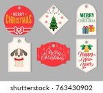 christmas cards  greeting cards ... | Shutterstock .eps vector #763430902