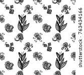 hand drawn graphic vintage... | Shutterstock .eps vector #763434166