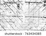 grunge black and white pattern. ... | Shutterstock . vector #763434385