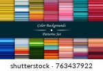 horizontal colorful stripes... | Shutterstock .eps vector #763437922