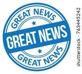 great news stamp | Shutterstock .eps vector #763445242