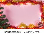 christmas and new year... | Shutterstock . vector #763449796