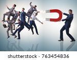 businessman in recruitment...   Shutterstock . vector #763454836