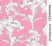 elegant seamless pattern with... | Shutterstock .eps vector #763464466