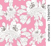 elegant seamless pattern with... | Shutterstock .eps vector #763464478