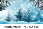 merry christmas and happy new... | Shutterstock . vector #763465558