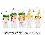 illustration of stickman kids... | Shutterstock .eps vector #763471792