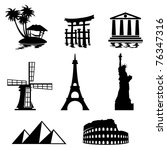 black and white set icons  ... | Shutterstock .eps vector #76347316