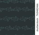 seamless dark blue  pattern... | Shutterstock .eps vector #763482466