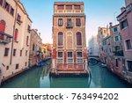 venice. cityscape image of... | Shutterstock . vector #763494202