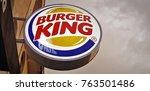 editiorail image of burger king ... | Shutterstock . vector #763501486