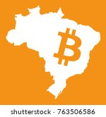brazil map with bitcoin symbol...   Shutterstock .eps vector #763506586