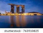 Singapore Cityscape At Dusk....