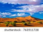sand dunes namib naukluft... | Shutterstock . vector #763511728