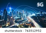 5g network wireless systems and ... | Shutterstock . vector #763512952