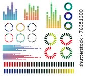 a set of color equalizers.... | Shutterstock .eps vector #76351300