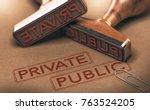 3d illustration of two rubber... | Shutterstock . vector #763524205