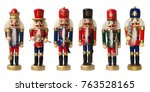 collection christmas nutcracker ... | Shutterstock . vector #763528165
