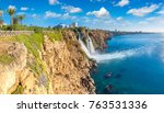 duden waterfall in antalya ... | Shutterstock . vector #763531336