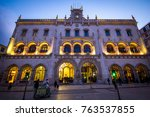 lisbon   portugal   february 23 ... | Shutterstock . vector #763537855
