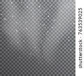 snow. vector transparent... | Shutterstock .eps vector #763539025