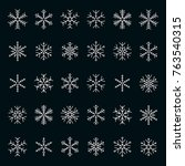 vector collection of snowflakes ...   Shutterstock .eps vector #763540315