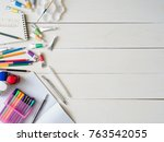 back to school concept and... | Shutterstock . vector #763542055