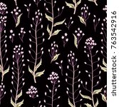 floral seamless pattern. nature ... | Shutterstock .eps vector #763542916