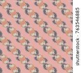 autumn colored seamless pattern ... | Shutterstock . vector #763546885