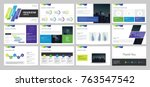 business presentation page... | Shutterstock .eps vector #763547542
