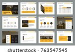 business presentation page... | Shutterstock .eps vector #763547545