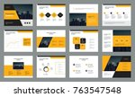 business presentation page... | Shutterstock .eps vector #763547548