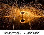 long exposure image of steel... | Shutterstock . vector #763551355