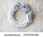 the christmas wreath    Shutterstock . vector #763554436