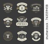 motorcycles logos templates... | Shutterstock .eps vector #763559458