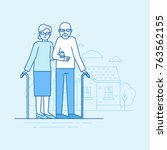 vector flat linear illustration ...   Shutterstock .eps vector #763562155