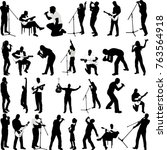 musicians collection...   Shutterstock .eps vector #763564918