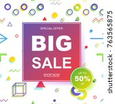 sale banner template design.... | Shutterstock .eps vector #763565875