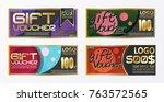 gift certificate voucher coupon ... | Shutterstock .eps vector #763572565